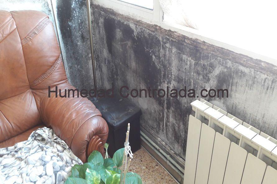 Problemas en las paredes de viviendas y mohos. Ventilación forzada. Presurización. Ventilación positiva