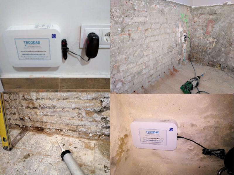 Humedad de capilaridad en paredes y pavimentos