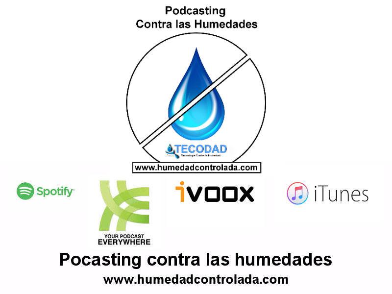 Podcast contra los problemas de las humedades en casa, viviendas y edificios
